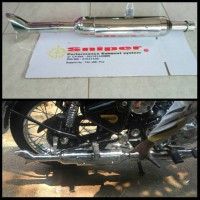 Knalpot royal enfield + sirip hiu full stainless