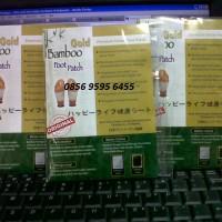 Sepasang Koyo Bamboo Gold Premium Foot Patch Detox ASLI IMPORT