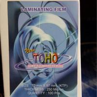 Plastik Laminating Toho Ukuran KTP Tebal 250 Mikron atk