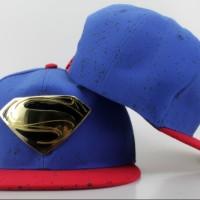 harga Topi Snapback DC Comics Superman Biru Merah Emas Gold Metal IMPORT Tokopedia.com