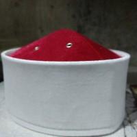 Peci Bludru Kolaborasi Merah Putih