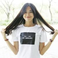 """Tumblr Tee / T-shirt / Kaos """"Die - die my darling"""" in White"""