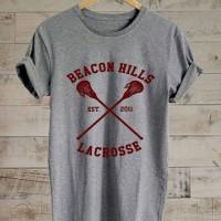 Beacon Hills Lacrosse Logo T Shirt Soft Cotton Combed Segala Warna