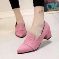 harga Sepatu Big Heels Bahan Suede / Bludru Salem 0257 Tokopedia.com