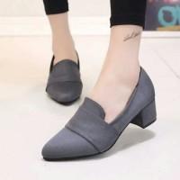 harga Sepatu Big Heels Bahan Suede / Bludru Grey 0257 Tokopedia.com