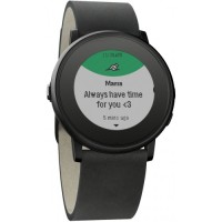 Pebble Time Round Smartwatch - Black 20mm