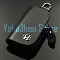 Jual Gantungan Kunci Mobil Kulit Logo HONDA-TOYOTA Murah