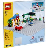 LEGO # 628 Baseplate Large 48 x Stud Base Plate Abu Gray Grey Tatakan