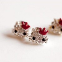 A1366 anting fashion korea import jewelry hello kitty women earrings