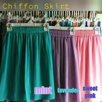 harga Rok Sifon Chiffon Skirt Pendek Selutut Tokopedia.com