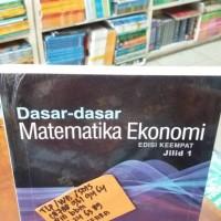 harga dasar-dasar matematika ekonomi jilid 1 edisi 4 alpha chiang Tokopedia.com