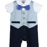 harga Romper Bow Tie Tuxedo Blue / Baju Formal Bayi Dan Balita Tokopedia.com