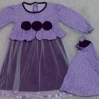 Baju muslim anak / baju muslim bayi / gamis tutu bunga