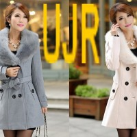 harga Jaket Musim Dingin (winter Coat) Wanita Model Bulu Tebal Belah Dada Tokopedia.com