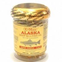 Tutup Emas K MAX Alaska Minyak Ikan Fish Isi 100 Made in USA Amerika
