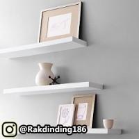 3 Rak Dinding, Minimalis, Gantung, Melayang, Kayu Uk. 70,50,30 x 15