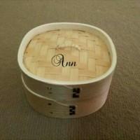 Deluxe Klakat Dimsum Set 15 Cm Kukusan Bambu Segi Empat