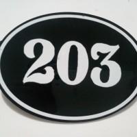 Nomor kamar kost acrylic