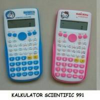 Kalkulator scientific rumus sin cos tan karakter Hello kitty Doraemon