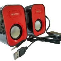 Speaker Multimedia Usb 2.0 Sotta X11 - For Notebook/Komputer