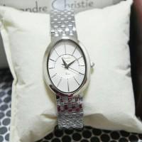 Jam Tangan Alexandre Christie Wanita AC 2575 Silver White Original