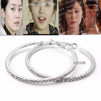 Anting Korea Circle Diamond Silver KE85318 47BV