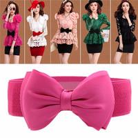 Ikat Pinggang Korea Big Bowknot Pink KBE54186 SHJI
