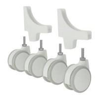 IKEA ALGOT Roda - Putih, set isi 4