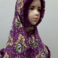 JA-2 Jilbab Frozen Hias Bulu - Anak usia TK hingga SD kelas 1/3