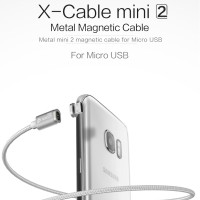 Jual WSKEN X-CABLE Mini 2 Magnetic Cable Micro USB &Lightning USB Charger Murah