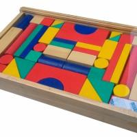City blok 42s balok bangun besar mainan edukatif edukasi anak SNi kayu
