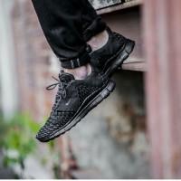 Nike Free 5.0 Inneva Woven Full Black Premium Original ( sepatu cowo )