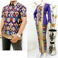 Couple Batik Denada Purple, Sarimbit Batik Solo