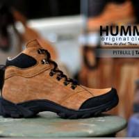 Sepatu Boots Tracking Pria ORIGINAL Hummer Pitbull Tan Washing Build U