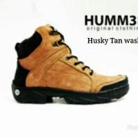 Sepatu Boots Tracking Pria ORIGINAL Hummer Huzky Tan Washing