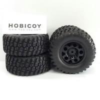 Ban RC/RC Tire/Wheels/Velg/Skala 1:10/Short Course/Adventure/Traxxas