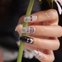 Nail Sticker Art Dry - Code: Y5037 // Stiker Kuku Kering Gambar Senyum