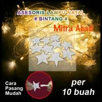 Aksesoris Hiasan Lampu Natal Model Bintang (10 pcs)