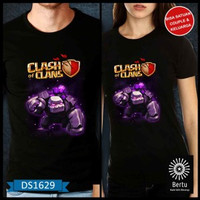 kode : DS1629 T-Shirt Baju Kaos Golem Clash Of The Clans Murah JB73