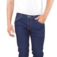 Celana Jeans Pria Low Rise Biru Tua Sspx628