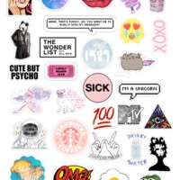 sticker tumblr pop art (cutting
