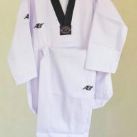Jual baju taekwondo AB kerah hitam Murah