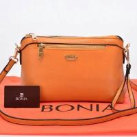 Tas Bonia Crossbody Saffiano Satchel Orange kecoklatan AP418