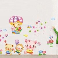 Animals and Air Balloon ABC1032 - Stiker…