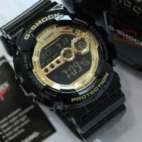 KEREN!! Jam tangan pria G shock casio ori/original GD-100-1BDR gold