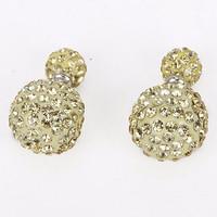 Anting Korea Dior Light Yellow Pearl Diamond KE15006 799S