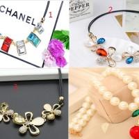 Kalung korea fashion alloy accesories travel jewelry case organizer