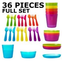 Jual 36 FULL SET Peralatan Makan BPA FREE - Tempat Makan Anak /  Bayi Murah