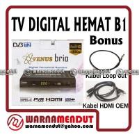 harga Digital TV DVB-T2 STB VENUS BRIO dengan Loop out dan HDMI Ekonomis Tokopedia.com
