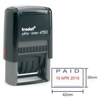 Trodat 4750 Stempel Tanggal + PAID | Trodat Printy Dater 4750